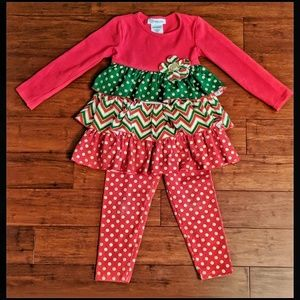 Bonnie Jean 2 Piece Christmas Outift